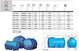 Накопичувальний бак для води та інших рідин ELBI CHO 2000, ємність 2000л, круглий горизонтальний, фото 2