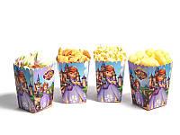 """Коробки для попкорну """"Принцеса Софія"""" В пак. 5 шт."""