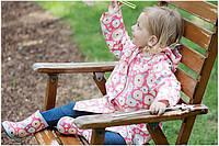 Дождевик детский Розовые Птички. Размер L