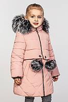 Зимнее модное пальто для девочки.Азиза 2017