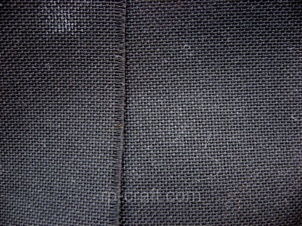 Отрез ткани для вышивки. Хлопок черный, 24х44 см