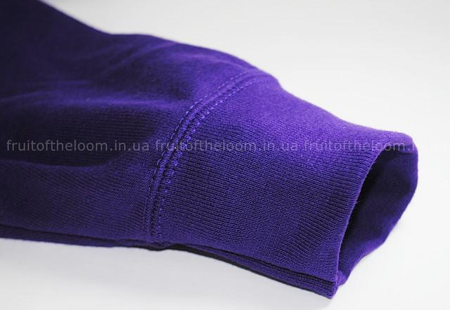 Фиолетовая  мужская лёгкая толстовка с капюшоном на замке