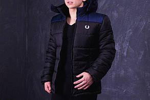 Куртка Fred Perry (Фред Перри) Promo, черная с темно-синими плечами