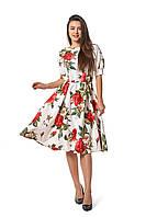 Платье Дарина 0285_1 Белое с принтом