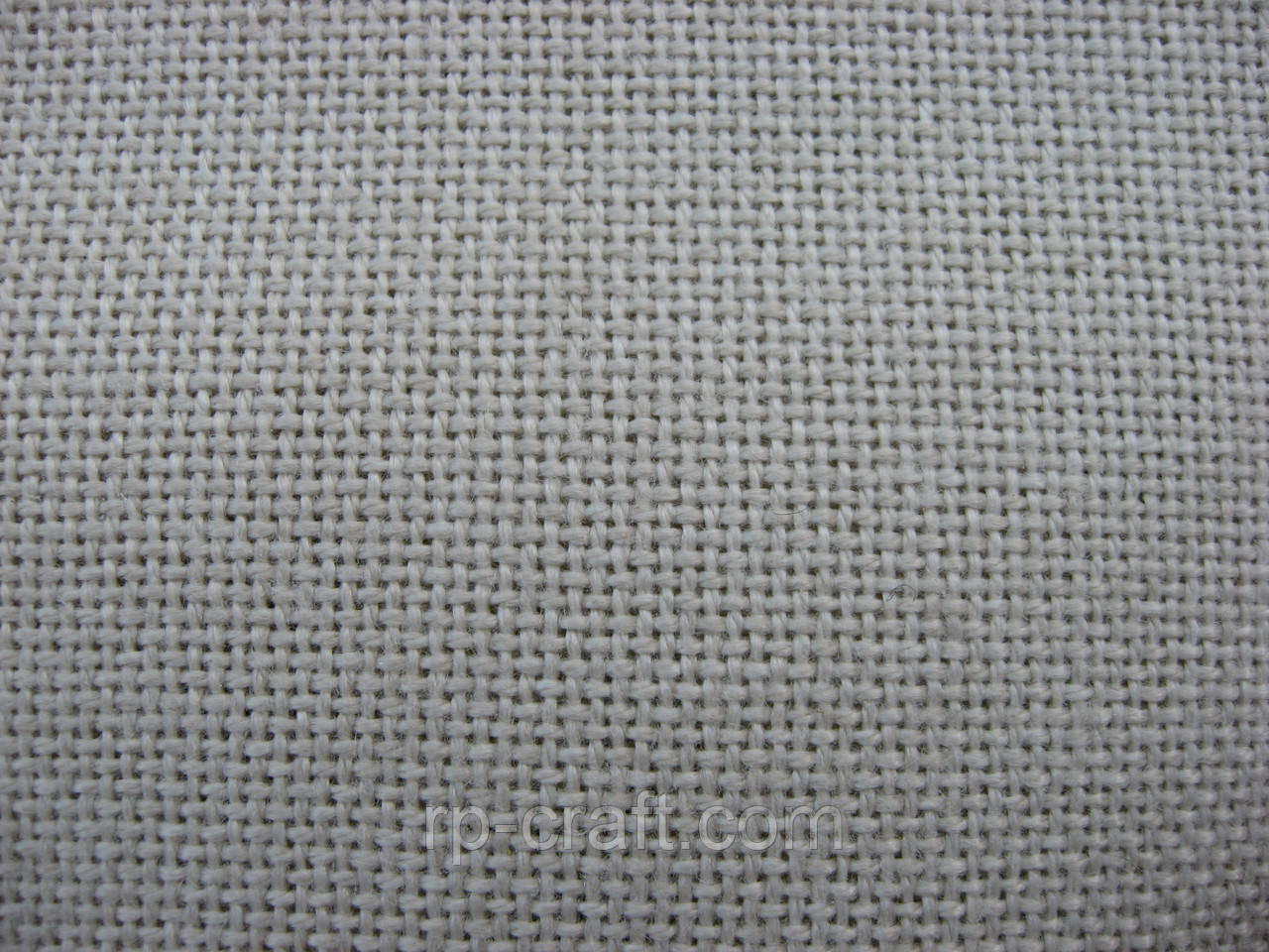 Отрез ткани для вышивки. Смесовая ткань, бежевая, 57х59 см