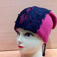 KONSTANCJA, женская молодежная шапка, шерстяная, цвет фуксия