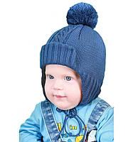 Шапка зимняя (вязка на синтепоне) на мальчика  50-52