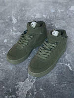 Кроссовки мужские Nike Air Force 1 Hight 15037 темно-зеленые