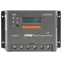 Контролер ШІМ 60А 12/24В з дисплеєм, (VS6024BN) EPSolar