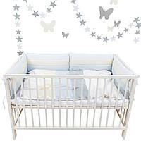 """Комплект постельки для новорожденных """"Snowman's house"""" 4 защитных бортика"""
