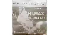 Полимерная линза Hi-Max тонированная 20% c защитным покрытием EMI. (серая)