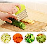 Нож для волнистой нарезки овощей «Compact» зеленый, фото 2