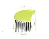 Нож для волнистой нарезки овощей «Compact» зеленый, фото 7