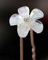 Шпилька-заколка  «Кристальный цветок»