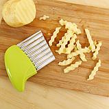 Нож для волнистой нарезки овощей «Compact» зеленый, фото 9