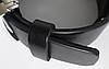 Ремень мужской кожаный GIORGIO ARMANI 3,5см (пряжкой автомат) ремень АРМАНИ под брюки ЧЕРНЫЙ (реплика), фото 3