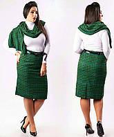 Женская юбка + шарф, р-р 50-56 (в расцветках)