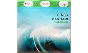Полимерная астигматическая линза CR-39. Индекс 1,499.