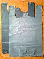 Пакеты-майка 38х57 см/35 мкм без печати, плотные полиэтиленовые пакеты без логотипа купить со склада Киев