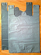 Пакеты-майка 38х60 см/35 мкм без печати, плотные полиэтиленовые пакеты без логотипа купить со склада Киев