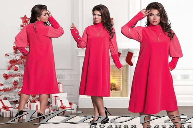 """Стильные женские платья свободного кроя """"Костюмная"""" 48, 50, 52 размер батал, фото 2"""