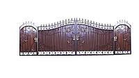 """Кованые ворота и калитка """" Элегант """""""