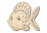 Шнуровка деревянная, «Рыбка»