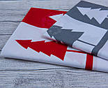 """Отрез ткани с широким купоном """"Ёлки и олени"""" на красном фоне,  № 949, фото 7"""