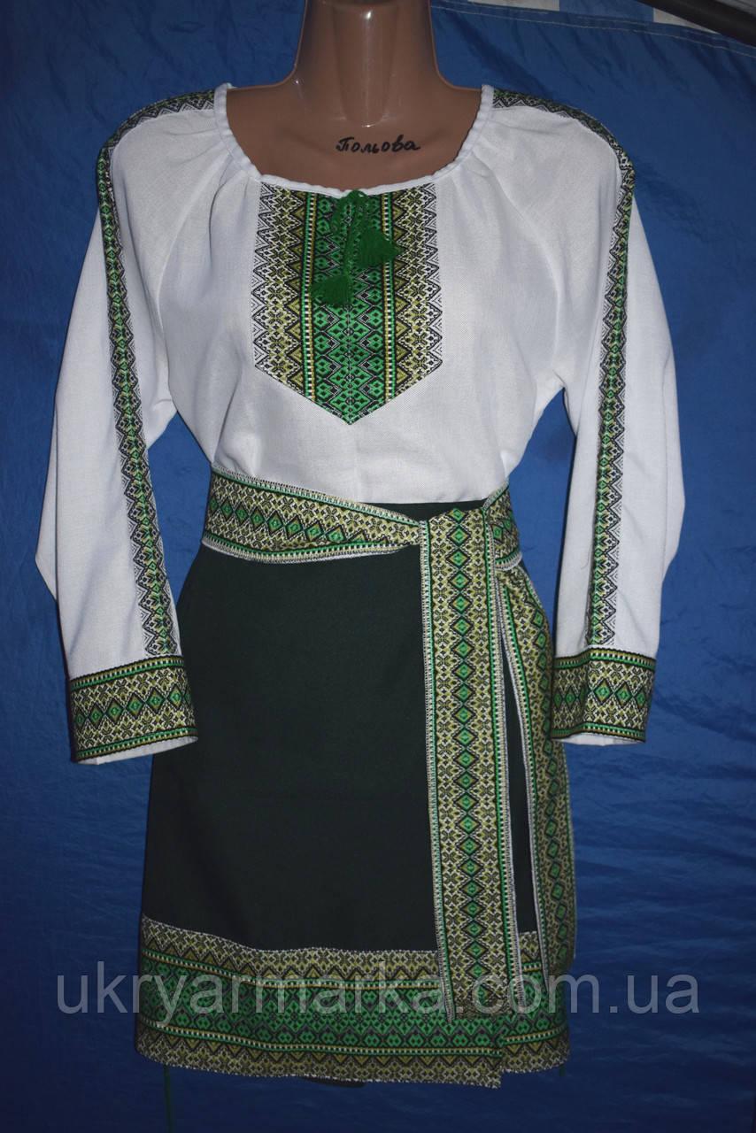 """Костюм в українському стилі """"Уляна"""" зелений"""