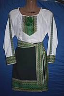 """Костюм в українському стилі """"Уляна"""" зелений, фото 1"""