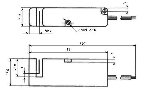 ПИЩ-6 габариты датчик ПИЩ выключатель индуктивный ПИЩ