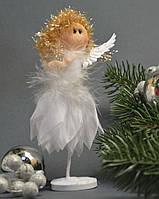 Новогодние украшения Ангелочек   лепестки стоящий    0253