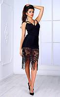 Женское вечернее платье с широкой вставкой из шантелье Poliit № 8432