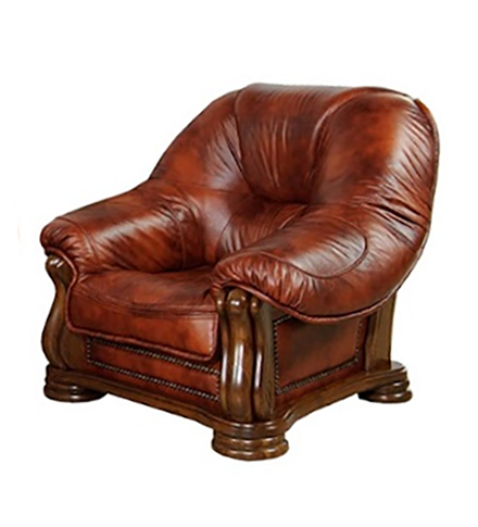 Кожаное кресло в классическом стиле SANREMO (110 см)