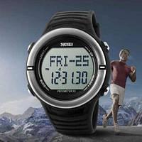 Часы с пульсометром и шагомером Skmei 1111 черные