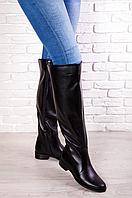 Ботфорты кожаные на широкую голень
