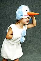 """Детский карнавальный костюм """"Снеговик"""" мех"""