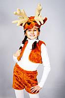 """Детский карнавальный костюм """"Олень"""" мех"""