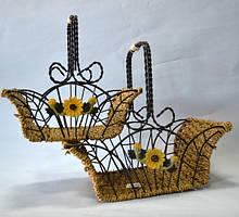 Декоры из ротанга и металла