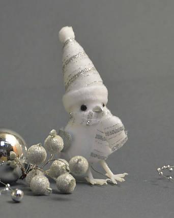Новогодние украшения  Птички серебро  0266, фото 2
