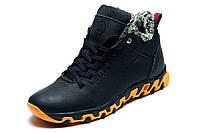 Ботинки мужские зимние на меху Columbia TRACK II кожаные черные с оранжевым, р. 40 41 42 43 44 45