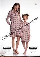 Сорочка для девочки GND 006/001 * (122-158)(ELLEN). Новинка осень-зима 2018