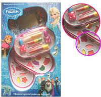Набор детской косметики Холодное Сердце Frozen 30088: тени, помада, лак (3 яруса)