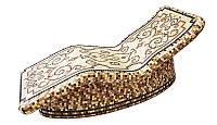 Лежак анатомический 1900/700/840 с подогревом для хамама