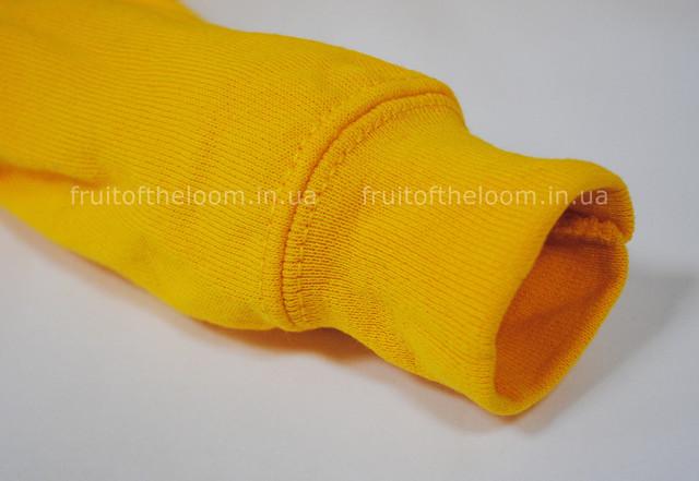 Солнечно-жёлтая детская классическая толстовка с капюшоном