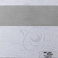 Рулонные шторы День Ночь Ткань Танго ВН-401 Белый