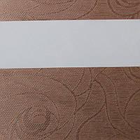 Рулонные шторы День Ночь Ткань Танго ВН-407 Какао