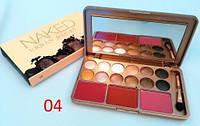 Набор для макияжа тени + помады № 1 № 2 №3 № 4
