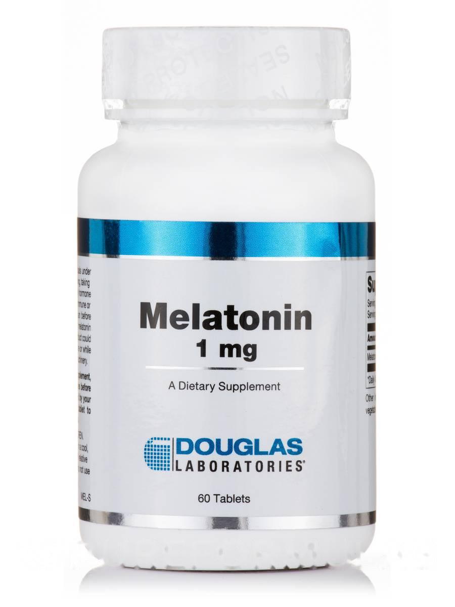 Мелатонин 1 мг, Melatonin, Douglas Laboratories, 60 таблеток