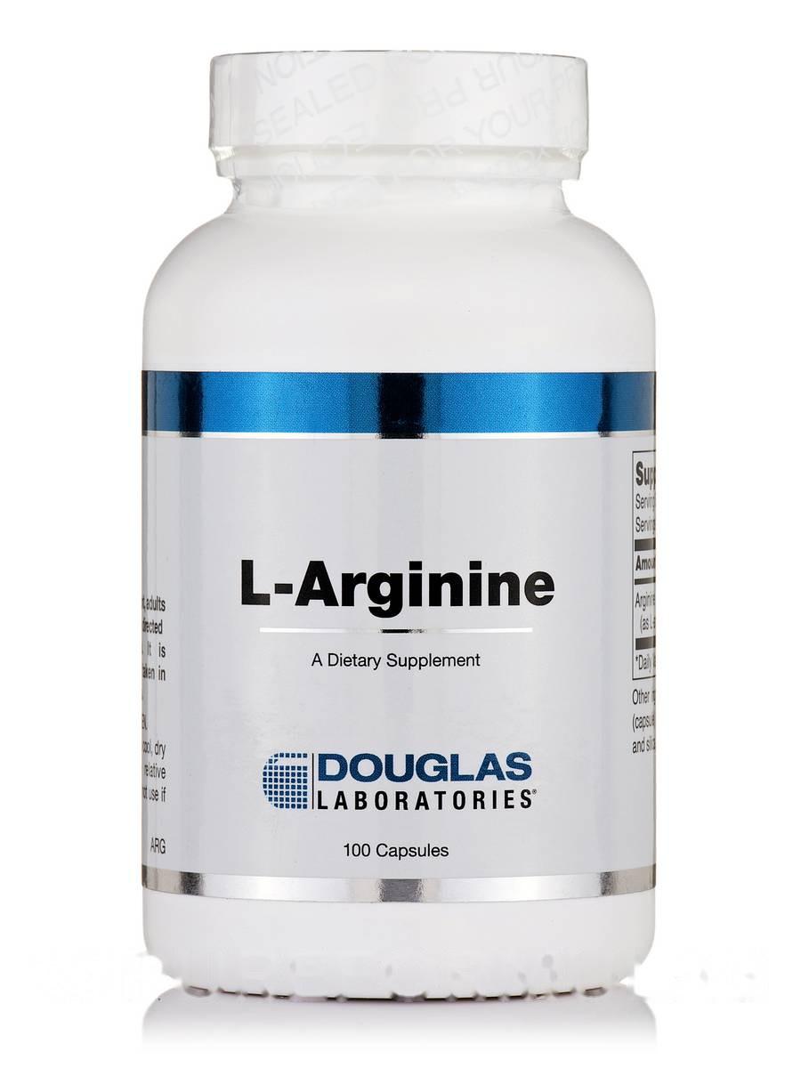 L-аргинин, L-Arginine, Douglas Laboratories, 100 Вегетарианских кампсул